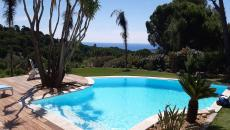 SAINTE MAXIME VILLA RENTAL WITH POOL AND SEA VIEW